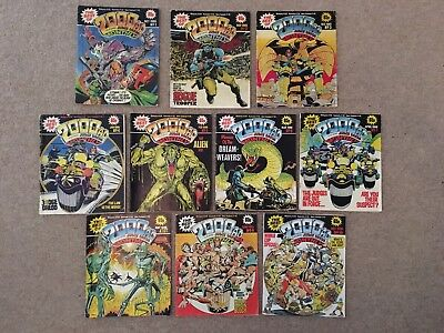 The Best Of 2000ad Monthly Job Lot Issues 1 - 10 Bundle Free Postage