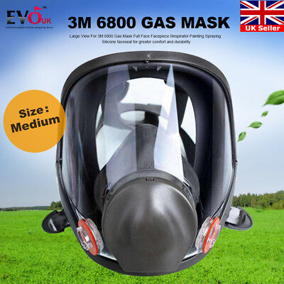 Large View For 3M 6800 Gas Mask Full Face Facepiece Respirator Painting Spraying