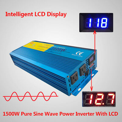 3000W Peak Pure Sine Wave Power Inverter DC 12V to AC 110V 120V Car Caravan LED