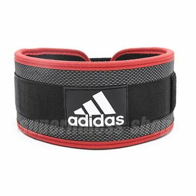 Adidas Nylon Weightlifting Belt Size L, Black x Red