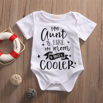 AU_ Baby Letters Printed Boys Girls Star Romper One-Piece Bodysuit Jumpsuit Nove