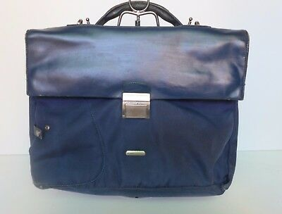 Borsa The Bridge Uomo 24 ore portadocumenti business bag in pelle e tessuto man