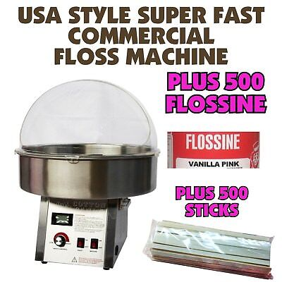 Fairy Floss Machine - Super Fast - Inc 500 Stick Starter Pack - Commercial NEW