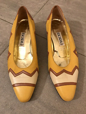 Scarpe vintage ESCADA vtg shoes 80's EU36.5 UK3.5