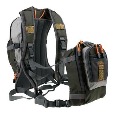 Fly Fishing Chest Pack / Backpack Adjustable Multi-Pockets Dual-purpose Bag