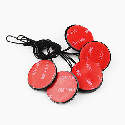 5Pcs 3M Sticker Mount Safety Buckle Insurance Tether Strap For GoPro Hero 2 3+ 4