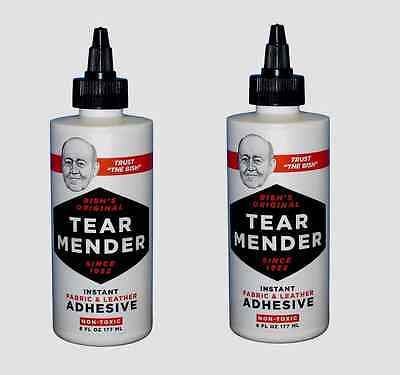 2~ TG-6 ** TEAR MENDER ** Instant Fabric & Leather Adhesive 6 oz Non-Toxic Fix
