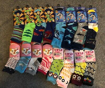 120 Kids socks wholesale job lot clearance market trader mix sizes boys girls