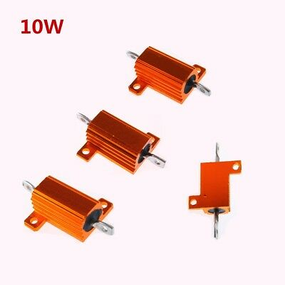 10W 5% 0.1-2.2k Ohm Shell Power Aluminum Housed Case Wirewound Resistor New