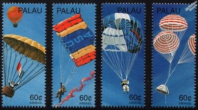 200th Anniversary of the Parachute Stamps (1997 Palau)
