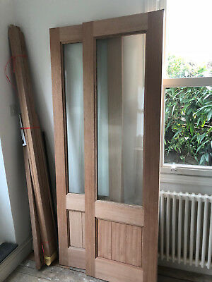 Howdens hardwood exterior French double doors with locks & HOWDENS HARDWOOD exterior French double doors with locks - £210.00 ...