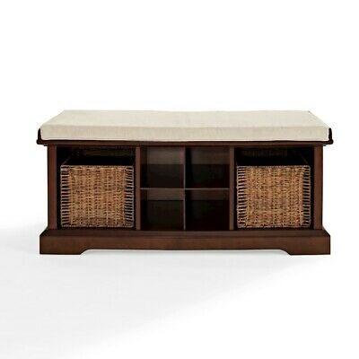 Crosley Brennan Entryway Storage Bench, Mahogany - CF6003-MA