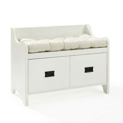 Crosley Fremont Entryway Bench, Distressed White - CF6017-WH