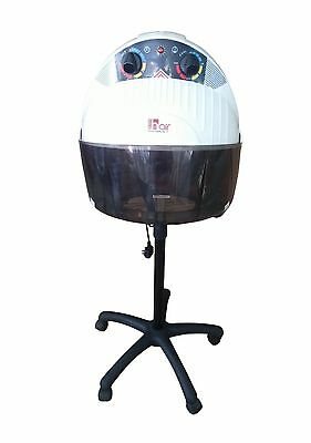 Hair Furniture Dionysos White Salon Hood Dryer, Perm & Set Hood Dryer on Wheels