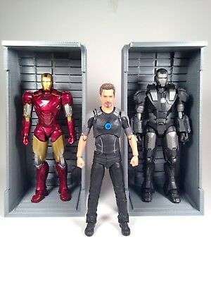 ONE 3d printed Marvel Legends Sh Figuarts Iron Man Hall Of Armor Alcove