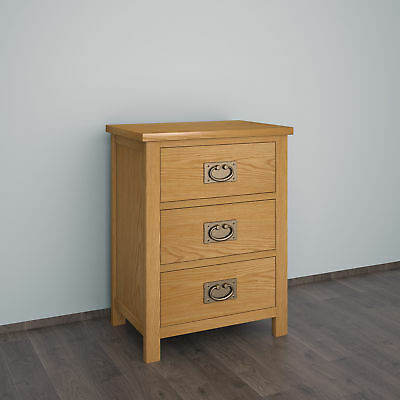 Panana Oak Bedside Table / Waxed Bedside Cabinet / Solid Wood Bedroom Furniture