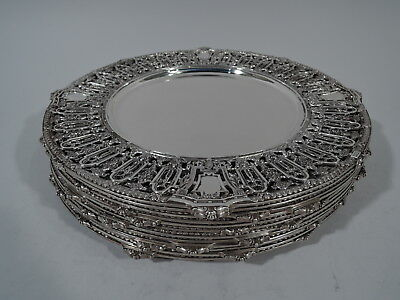 Dominick & Haff Lafayette Plates Chargers - 1892/62 - American Sterling Silver
