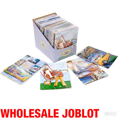 100 Birthday Greeting Cards 3D Gents Card Wholesale Job Lot Brand New In Display