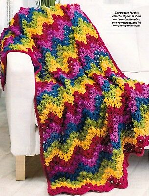 Crochet Pattern 100 Colorful Ripple Stitches To Crochet For Afghans