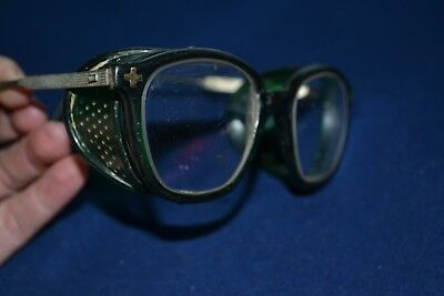 Vintage Fendall safety Glasses Mesh sides Steampunk Motorcycle Retro Gear