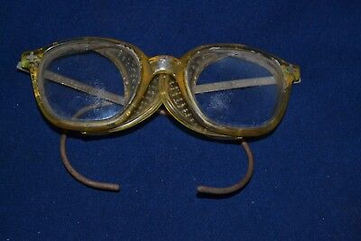 Vintage Fendall safety Glasses Mesh sides Steampunk Motorcycle Retro Gear Used