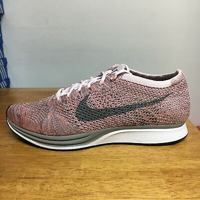 brand new 0ca1d a09d1 Nike Flyknit Racer Pearl Pink Grey Macaron Pack Sz 10 Strawberry 526628-604