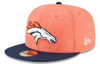 innovative design ec0d3 5a2e8 Denver Broncos Heather 2 Tone New Era 59Fifty NFL Fitted Hat Cap Size 7 3