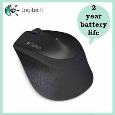 Brand New Logitech Silent Plus M330 Wireless Optical Mouse - Black
