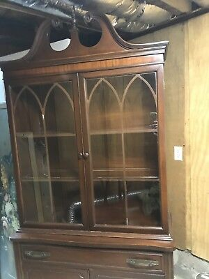 Duncan Phyfe China Cabinet; Antique; beautiful, decorative woodwork
