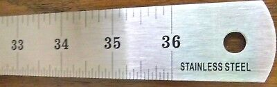 36 inch Stainless Steel Flexible Yardstick yard stick metal ruler most durable
