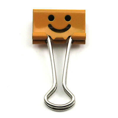 5pcs Colorful Cartoon Cute Smile Face Pattern Office Supplies Metal Binder Clip
