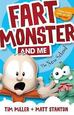 Fart Monster and Me: The New School by Tim Miller Paperback Book Free Shipping!