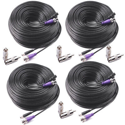4 X 100ft HD Cable Security Camera CCTV DVR Extensive BNC Video Power Cord Wire
