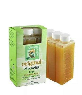 Clean+Easy Original Wax Refill Large - 3 pack