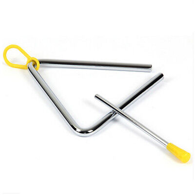 Metal Musical Triangle and Beater Percussion Instrument Silver Funny Music Toy
