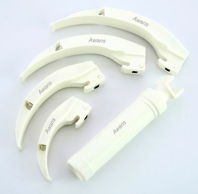 Disposable Macintosh Laryngoscope Set, Bright and White LED illumination
