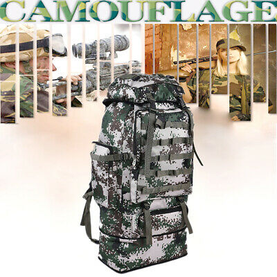 100L Extra Large Backpack Rucksack Bag Outdoor Camping Hiking Military Travel