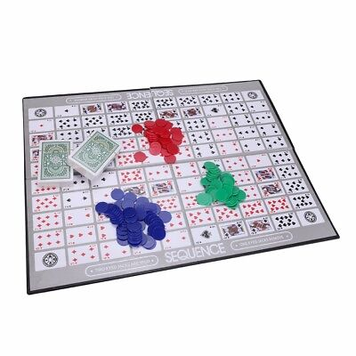 Sequence Classic Card Game Challenge Board Games W/ 135 Sequence Playing Chips