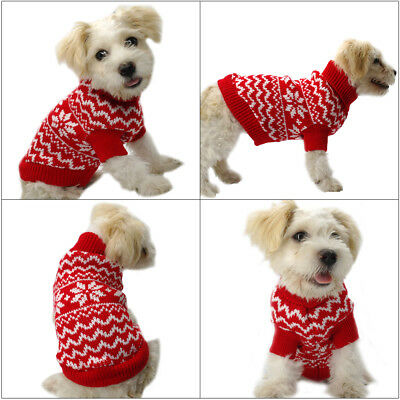 Soft Cotton Dog Jumper Pet Cat Puppy Sweater Chihuahua Clothes Jacket Knitwear