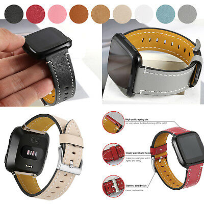 Replacement Genuine Leather Watch Wrist Band Bracelet for Fitbit Versa Small S L