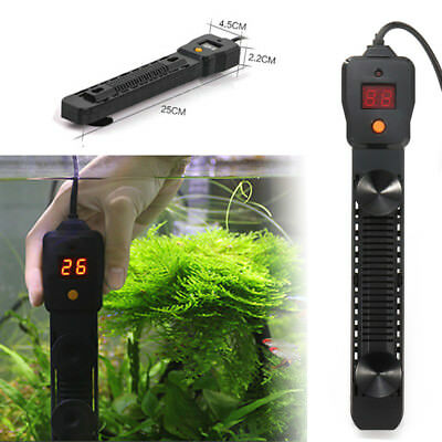 300-500W Aquarium Submersible Fish Tank LED Digital Adjustable Water Heater Rod