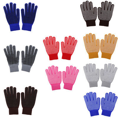 Knitted Horse Riding Pimple Grip Gloves Equestrian Horse Riding Equipment