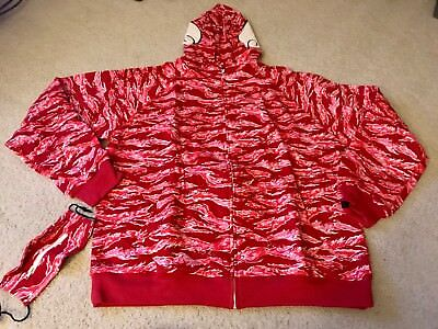 2d88291ff9460 NIKE THERMAFIT VINTAGE red white supreme court basketball hoodie ...