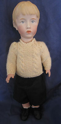 Kammer & Reinhardt # 102 Reproduction Porcelain Doll Rare Walter VGC