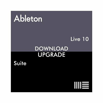 Ableton Live 10 Suite From Live Lite (Download)
