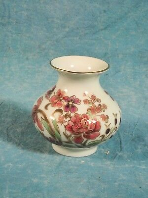 VINTAGE Zsolnay Pecs Hungarian Hand Painted Porcelain VASE Numbered #2