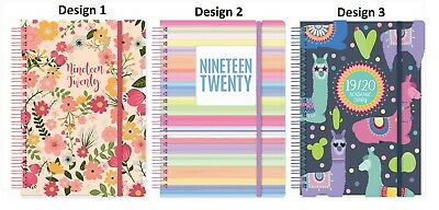 2019 2020 A5 Day a page Academic Mid year Spiral PVC Cover Student Teacher Diary