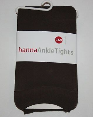 New Hanna Andersson Brown Ankle Tights Footless Size 160 cm 14 16 Year Girls NWT