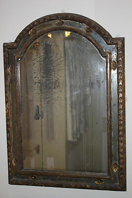 18th Century French gilt and gesso mirror with apliques & original mirror plate