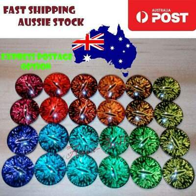 24pcs 8mm Glass Doll Eyes Cat DIY Craft Toy Dinosaur Time Gem 2+ items 10% off